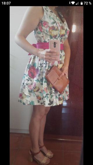 Vestido de fiesta estampado florar