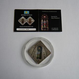 Moneda plata Holy Windows, Catedral San Patricio