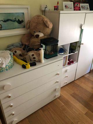 Habitación completa infantil blanca