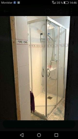 Mampara de ducha impoluta 100x70 cm