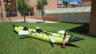 Kayak Aquamarina K1 para dos personas.