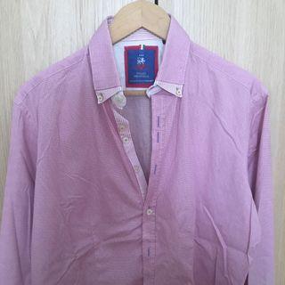 Camisa hombre color rosa marca italiana