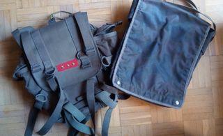 bandolera y mochila militar