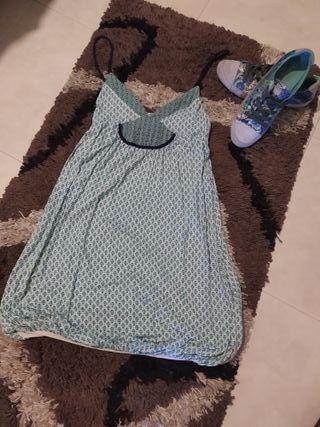 vestido mini abullonado