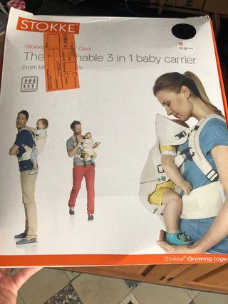 Stokke MyCarrier mochila bebés frontal y dorsal
