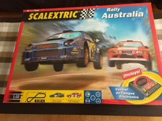 SCALEXTRIC RALLY AUSTRALIA + 2 COCHES