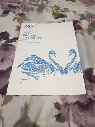 GCSE English Literature, Poetry Anthology