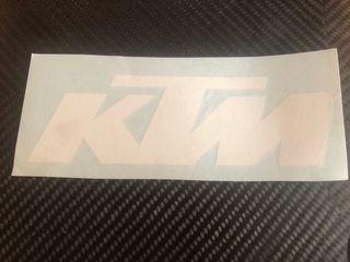Pegatina vinilo KTM blanca 18cm