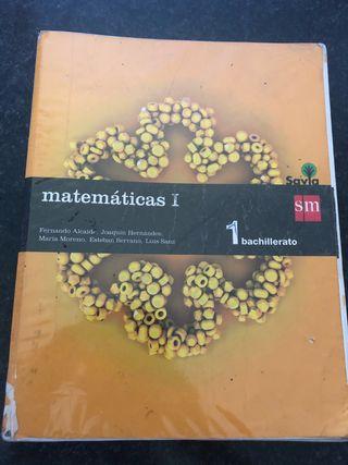 Libro Matematicas 1 de Bachiller editorial SM