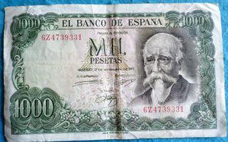 España, 1000 Pesetas 1971 José Echegaray
