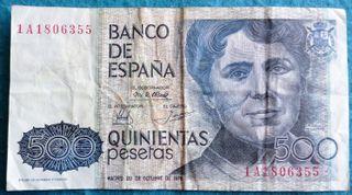 España, 500 Pesetas 1979 Rosalia de Castro