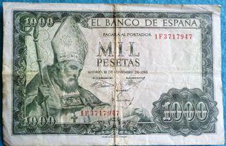 España, 1000 Pesetas 1965 San Isidoro de León.
