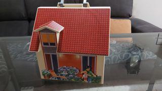 URGE casa Playmobil con bisagras rotas