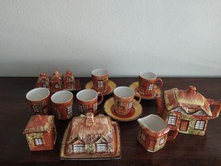 Juego de té de porcelana inglesa