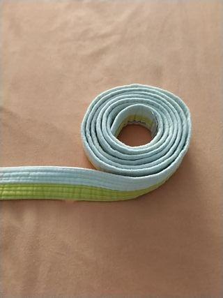 Cinturón Judo Blanco/amarillo
