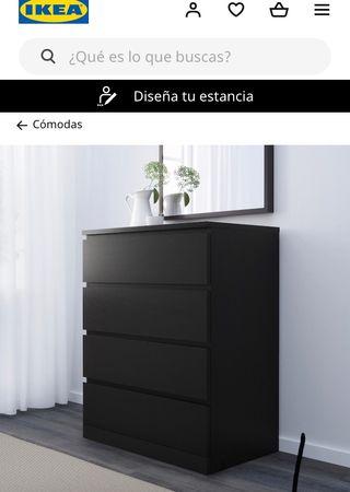 Cómoda para dormitorio IKEA