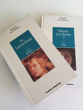 Lote de dos libros MEMORIA DE LA HISTORIA