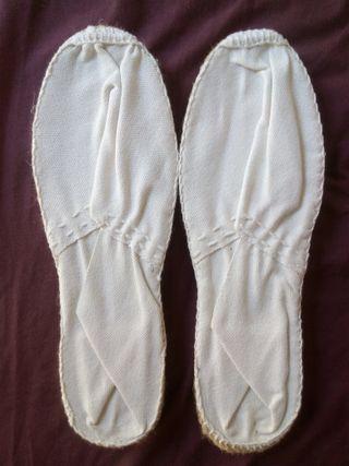 Alpargatas blancas NUEVAS t.39