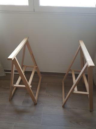 caballetes de madera