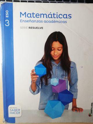 Libro Matemáticas Tercero ESO