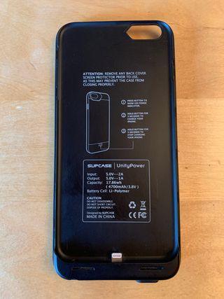 cargador y a su vez funda para iPhone 6 plus