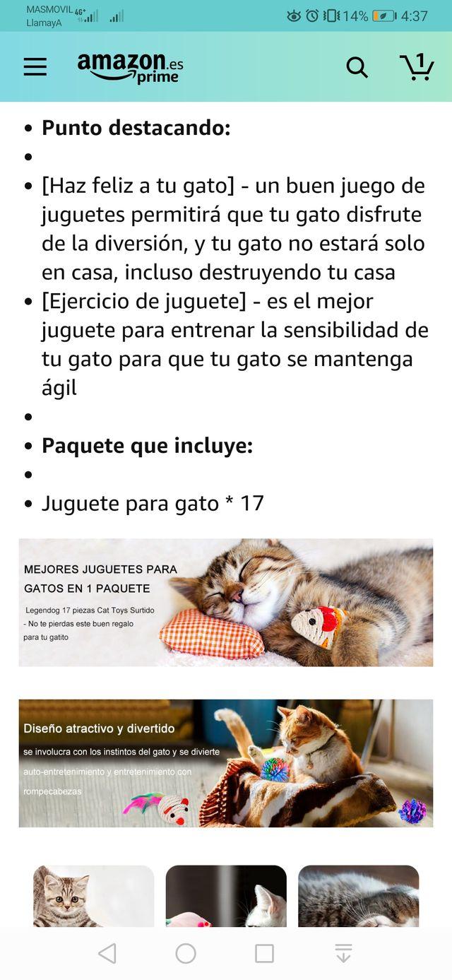 Legendog Juguetes para Gatos, 17Pcs Juguetes Gatos
