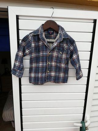 camisa de niños de franela