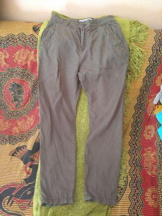 pantalón Zara caqui verano 34