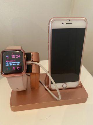 Soporte cargador iPhone y Applewatch