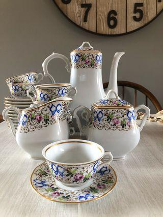 Juego de café o té porcelana portuguesa