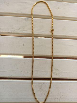 cadena chapada oro veneciana