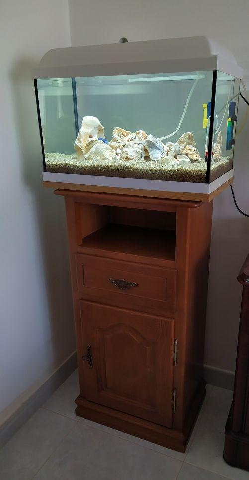 acuario led con mesa