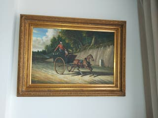 Cuadro inglés óleo sobre lienzo