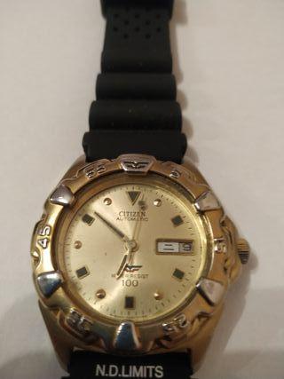 reloj citizen automático diver vintage 8200