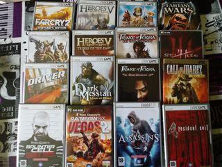 16 juegos de pc con su caja original