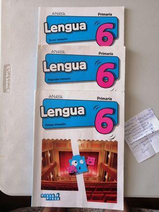 libros lenguaje 6 primaria Anaya pieza a pieza