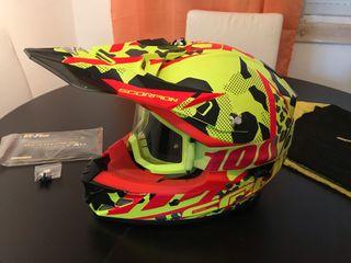 Casco motocross/enduro + gafas 100%