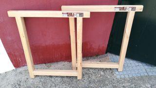 burriquetas/caballetes madera