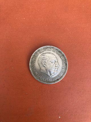 Moneda de 50 ptas de 1957