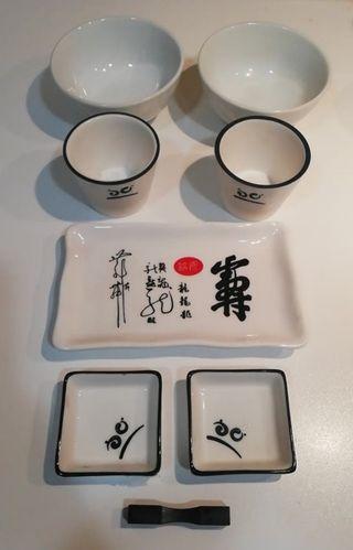 Juego japonés shushi y te