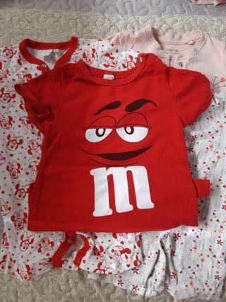 ropa bebé:4 pijamas verano de 9 a 12 meses