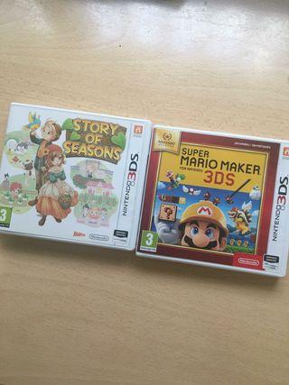 Juegos 3ds/2ds Story of seasons y Mario Maker