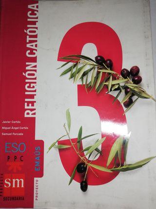 Libro de Religión Católica. Tercero de ESO.