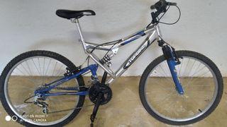 Bicicleta montaña cadete doble susp.Rueda 24'