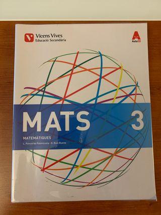 MATS 3 Matematiques, tercero de Eso
