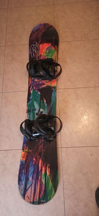equipo completo alta gama de snowboard chica/mujer