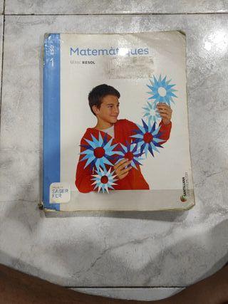 Libro de matematicas de 1 de la eso