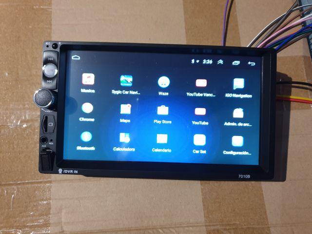 Coche Android multimedia 7 pulgadas boton usb gps