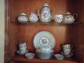 Juego de te de porcelana alemana