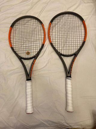 Raqueta de tenis wilson burn 100